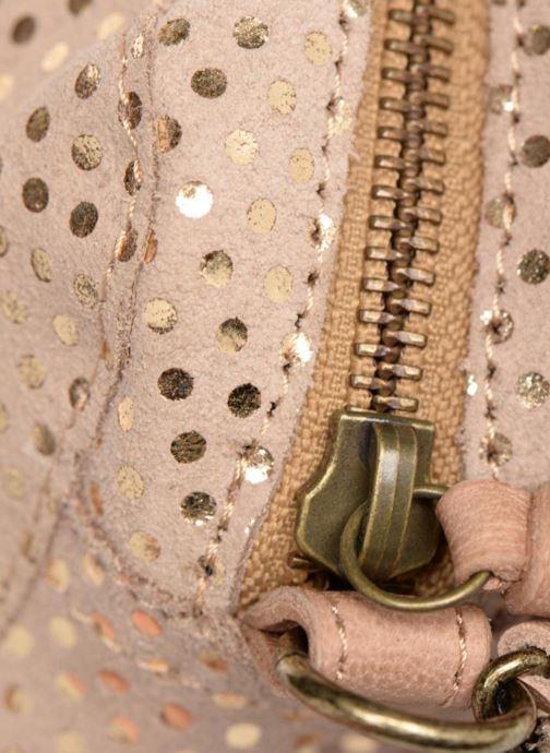 Sacs à main Pieces Naina Leather Crossover Beige vue gauche