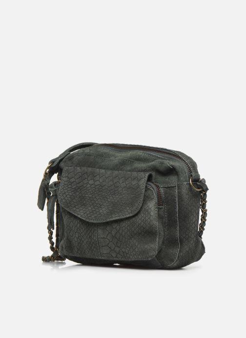 Handtassen Pieces Naina Leather Crossover Groen model