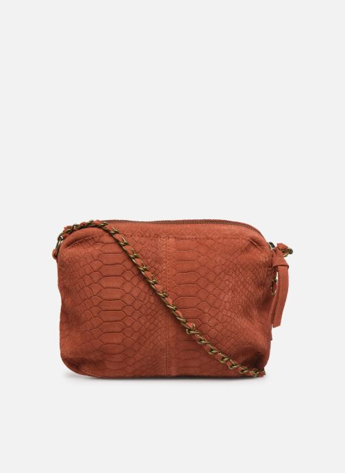 Sacs à main Pieces Naina Leather Crossover Orange vue face