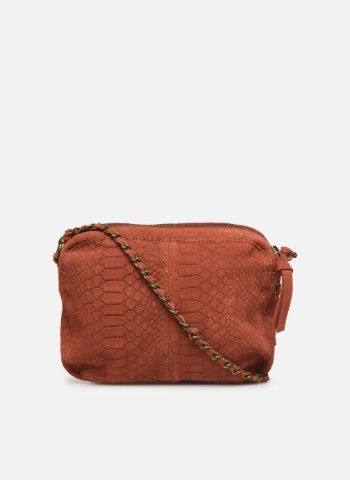 Handtassen Pieces Naina Leather Crossover Oranje voorkant