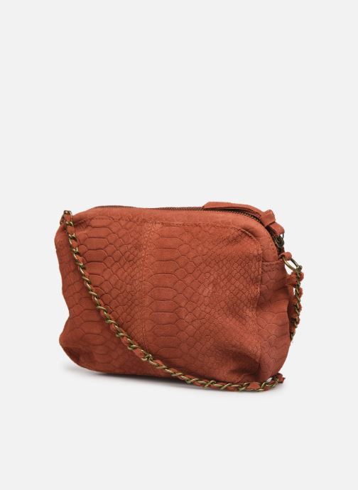 Sacs à main Pieces Naina Leather Crossover Orange vue droite
