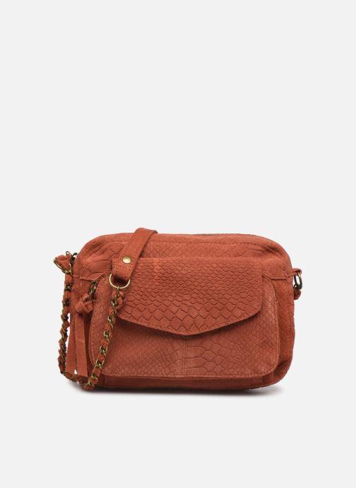 Handtassen Pieces Naina Leather Crossover Oranje detail