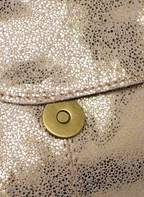 Handtaschen Pieces Naina Leather Crossover gold/bronze ansicht von links