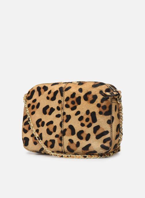 Handtaschen Pieces Naina Leather Crossover braun ansicht von rechts