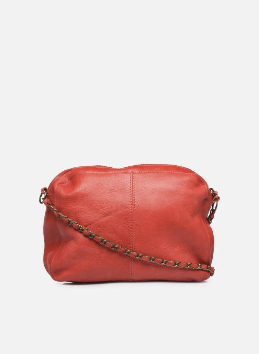 Handtaschen Pieces Naina Leather Crossover rot ansicht von vorne
