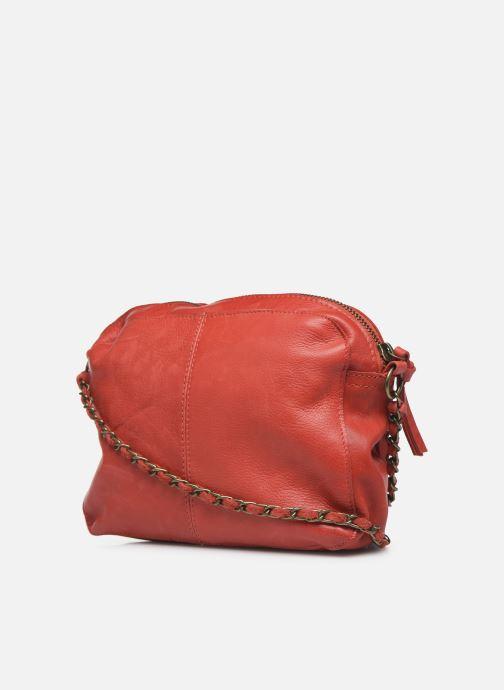 Handtaschen Pieces Naina Leather Crossover rot ansicht von rechts