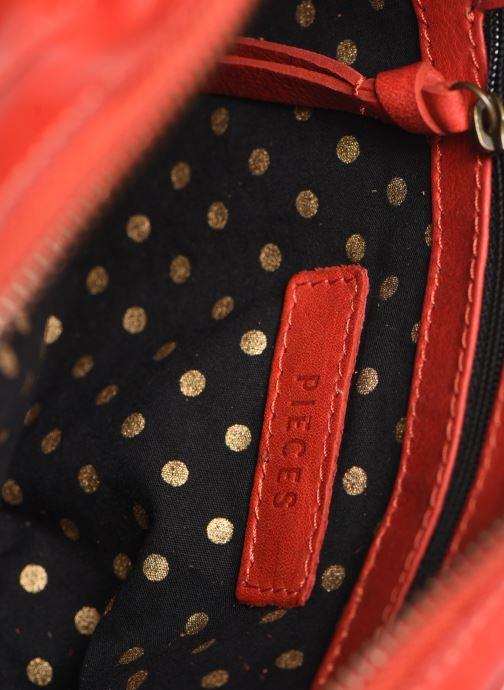 Borse Pieces Naina Leather Crossover Rosso immagine posteriore
