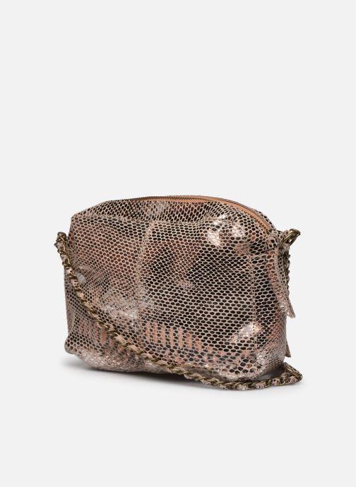 Handtaschen Pieces Naina Leather Crossover gold/bronze ansicht von rechts