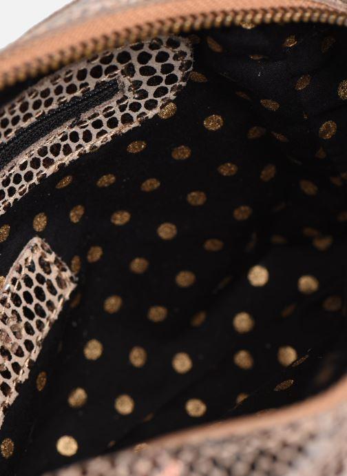 Handtaschen Pieces Naina Leather Crossover gold/bronze ansicht von hinten
