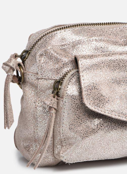 Handtaschen Pieces Naina Leather Crossover silber ansicht von links