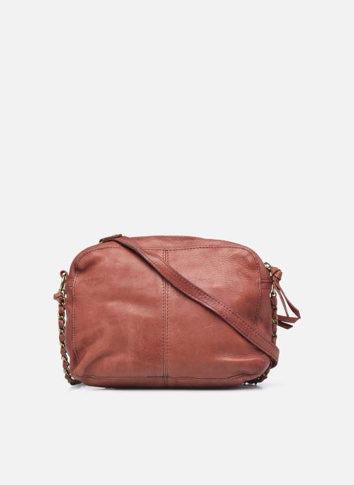 Handtaschen Pieces Naina Leather Crossover orange ansicht von vorne