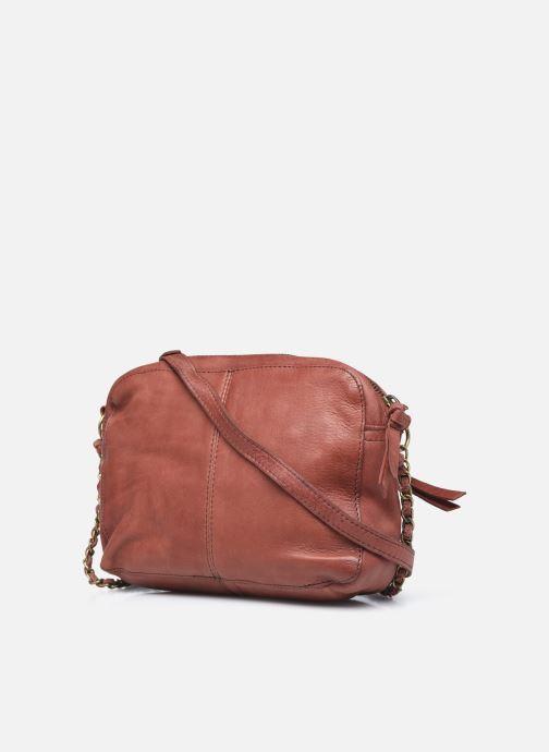 Handtaschen Pieces Naina Leather Crossover orange ansicht von rechts