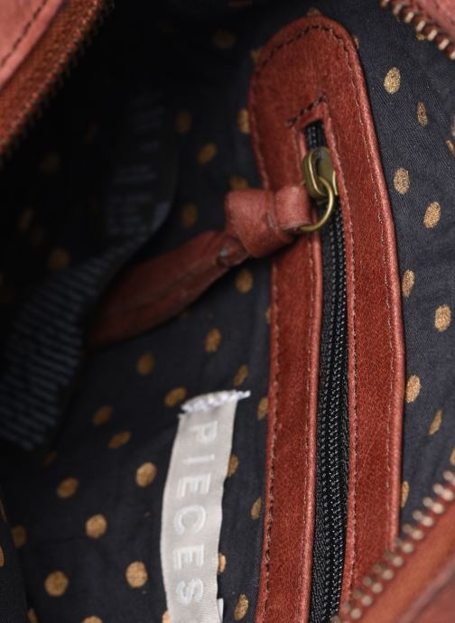 Handtaschen Pieces Naina Leather Crossover orange ansicht von hinten