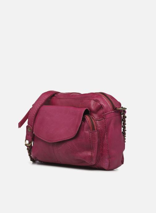 Handtaschen Pieces Naina Leather Crossover lila schuhe getragen