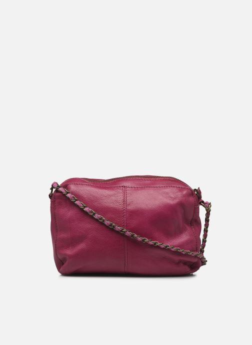 Handtaschen Pieces Naina Leather Crossover lila ansicht von vorne