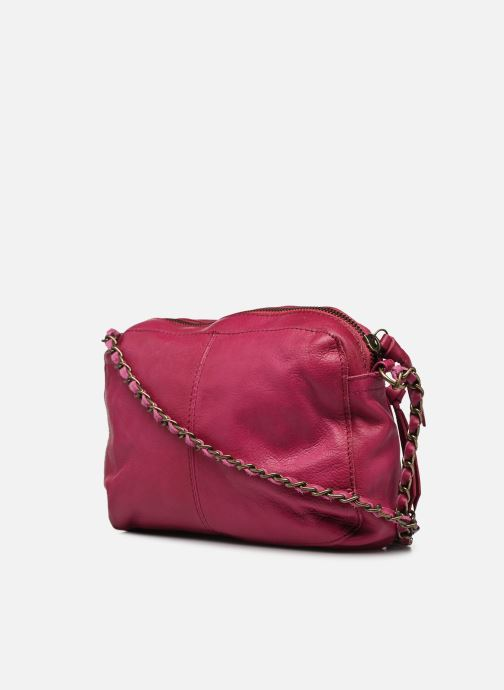 Handtaschen Pieces Naina Leather Crossover lila ansicht von rechts