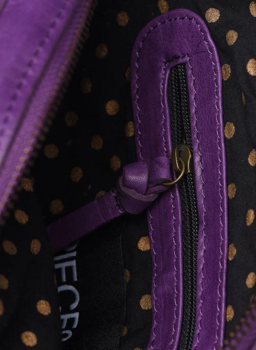 Handtaschen Pieces Naina Leather Crossover lila ansicht von hinten