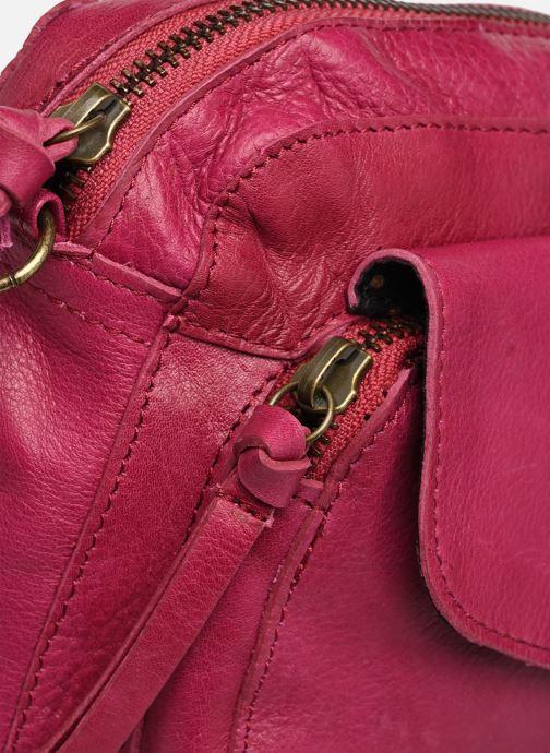 Handtaschen Pieces Naina Leather Crossover lila ansicht von links