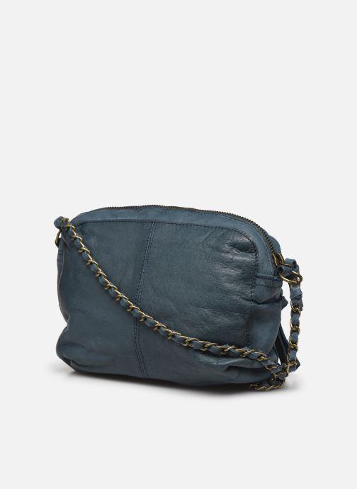 Sacs à main Pieces Naina Leather Crossover Bleu vue droite