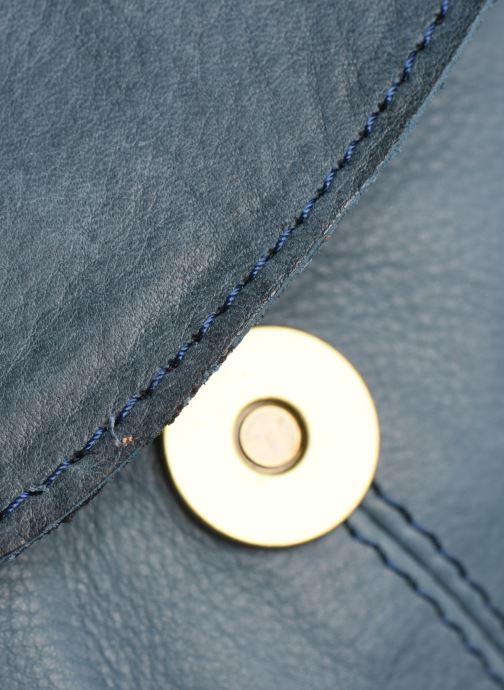Sacs à main Pieces Naina Leather Crossover Bleu vue gauche