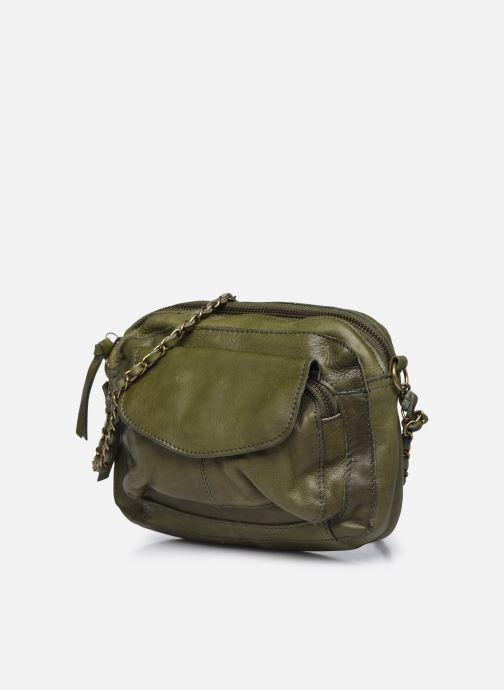 Handtaschen Pieces Naina Leather Crossover grün schuhe getragen
