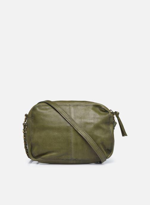 Handtaschen Pieces Naina Leather Crossover grün ansicht von vorne