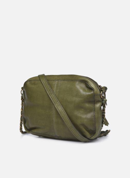 Handtaschen Pieces Naina Leather Crossover grün ansicht von rechts