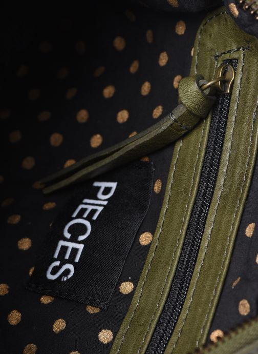 Handtaschen Pieces Naina Leather Crossover grün ansicht von hinten