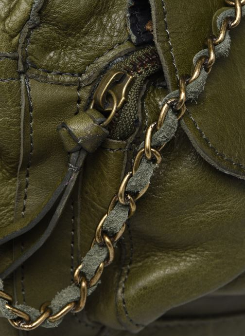 Handtaschen Pieces Naina Leather Crossover grün ansicht von links