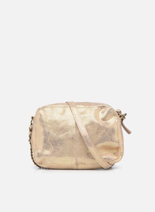 Handtaschen Pieces Naina Leather Crossover silber ansicht von vorne