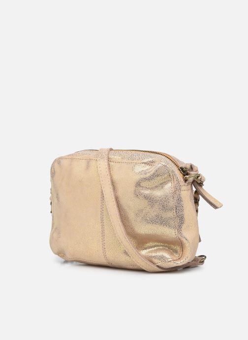 Handtaschen Pieces Naina Leather Crossover silber ansicht von rechts