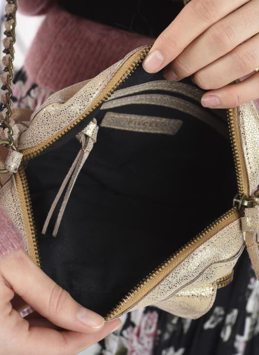 Handtaschen Pieces Naina Leather Crossover silber ansicht von hinten