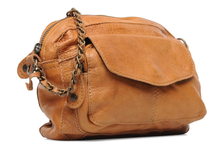 Bolsos de mano Pieces Naina Leather Crossover Marrón vista lateral derecha