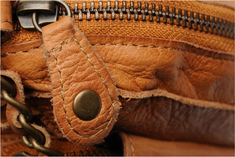 Sacs à main Pieces Naina Leather Crossover Marron vue gauche
