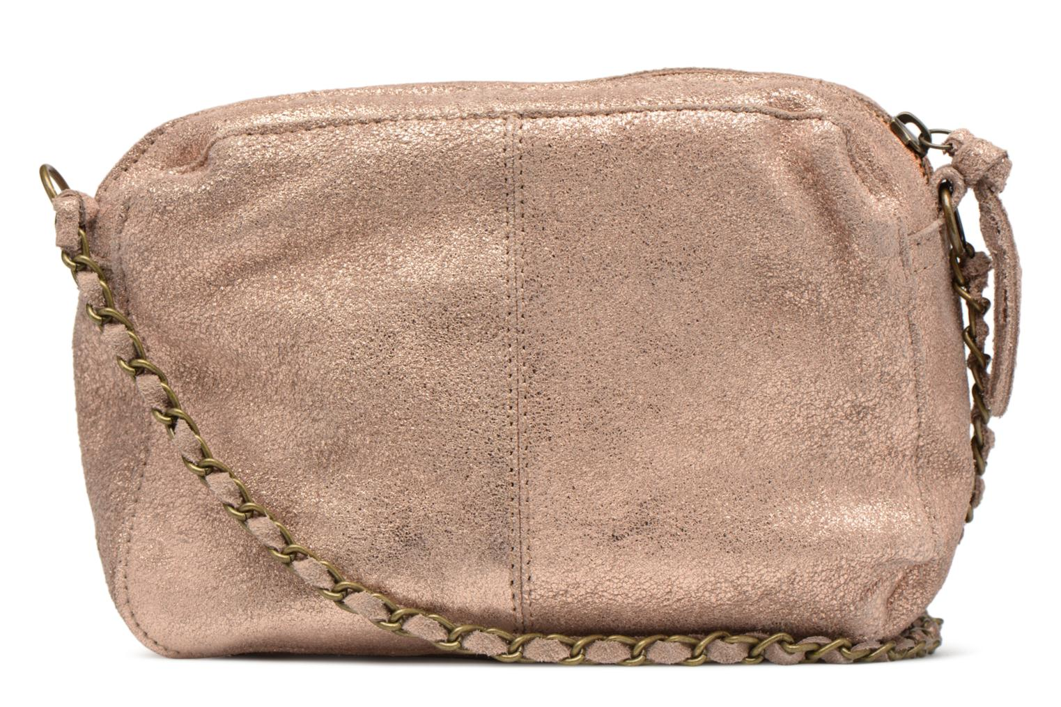Handbags Pieces Naina Leather Crossover Pink front view
