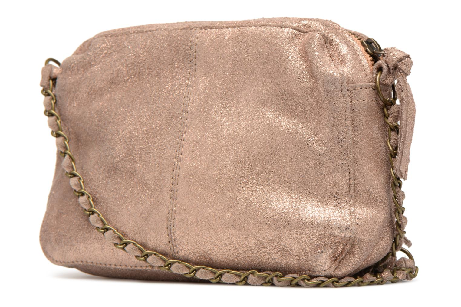 Bolsos de mano Pieces Naina Leather Crossover Rosa vista lateral derecha