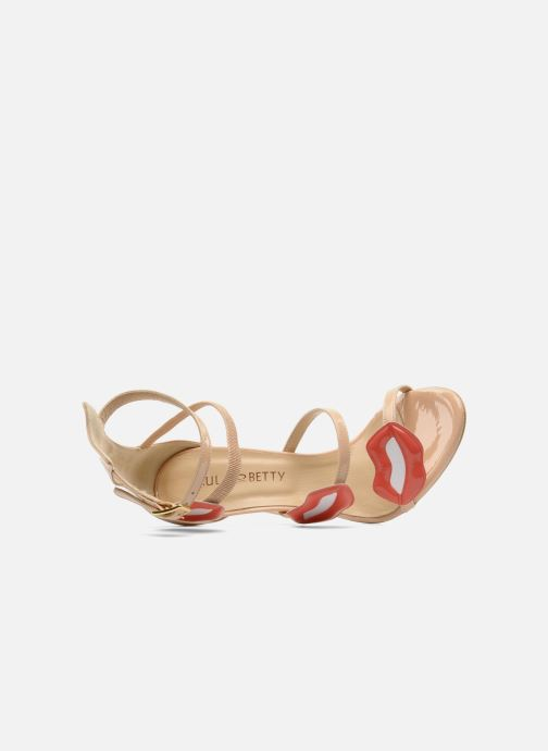 Sandales et nu-pieds Paul & Betty PrettyLips bis Beige vue gauche