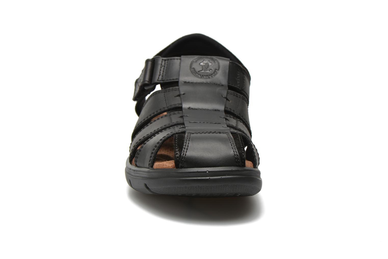 Sandales et nu-pieds Panama Jack Sherpa Noir vue portées chaussures