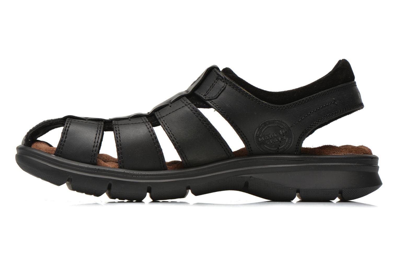 Sandales et nu-pieds Panama Jack Sherpa Noir vue face