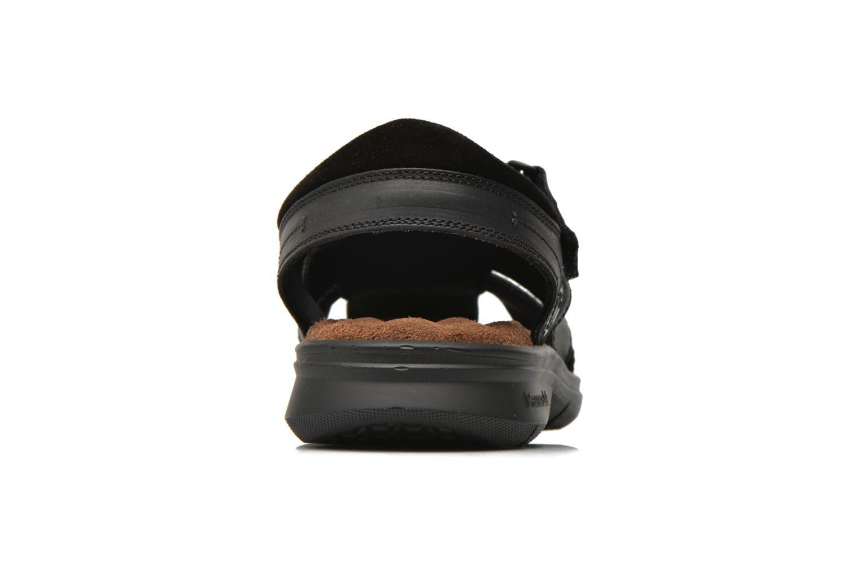 Sandales et nu-pieds Panama Jack Sherpa Noir vue droite