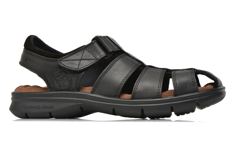 Sandales et nu-pieds Panama Jack Sherpa Noir vue derrière