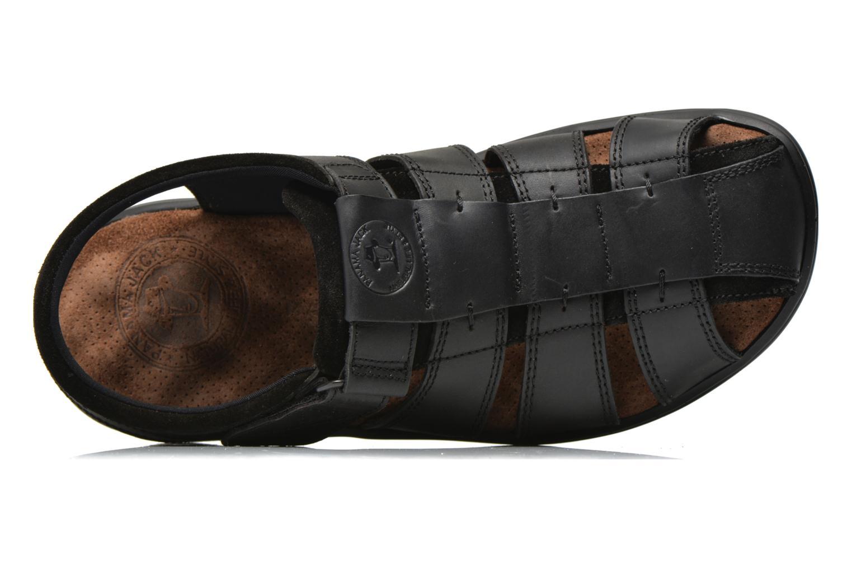 Sandales et nu-pieds Panama Jack Sherpa Noir vue gauche
