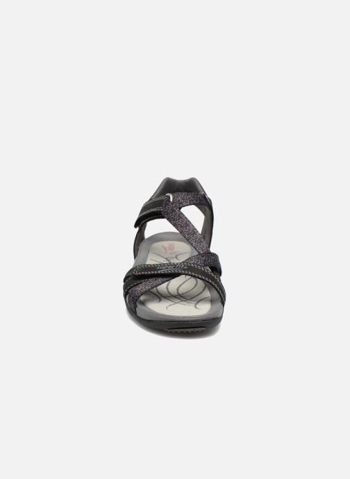 Sandales et nu-pieds Superfit Nancy Noir vue portées chaussures