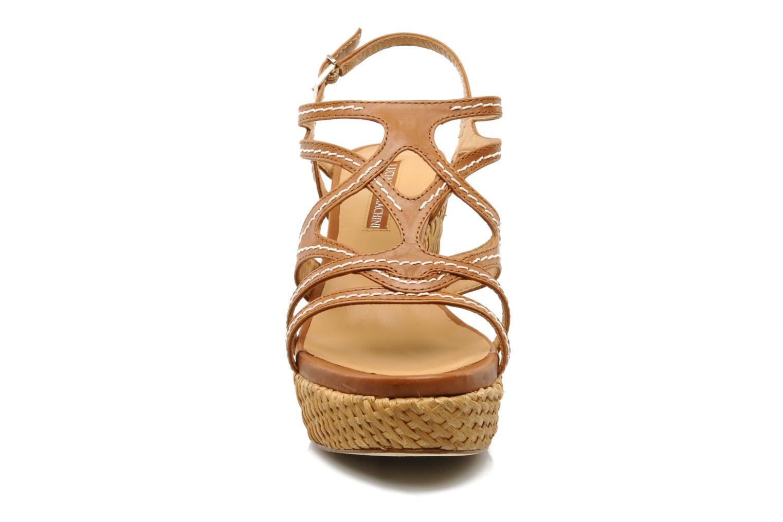 Sandales et nu-pieds Luciano Barachini Bridia Marron vue portées chaussures