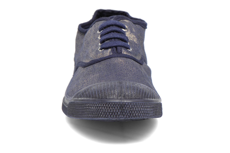 Baskets Bensimon Tennis Colorsole Bleu vue portées chaussures