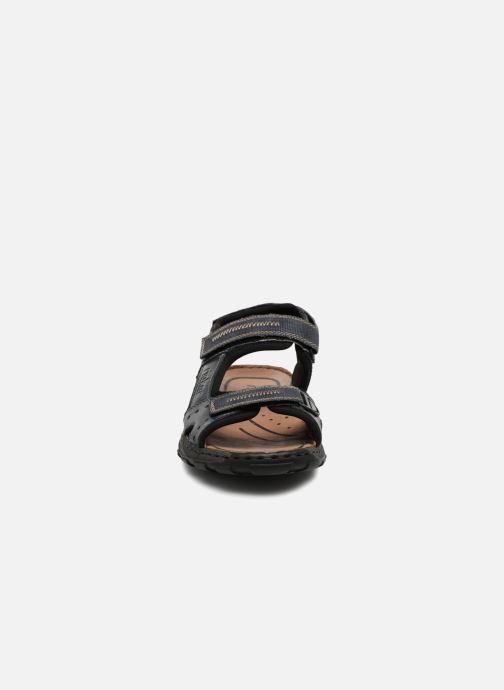 Sandales et nu-pieds Rieker Christian Bleu vue portées chaussures