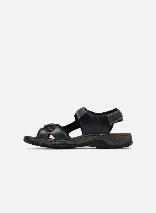 Sandales et nu-pieds Rieker Christian Bleu vue face