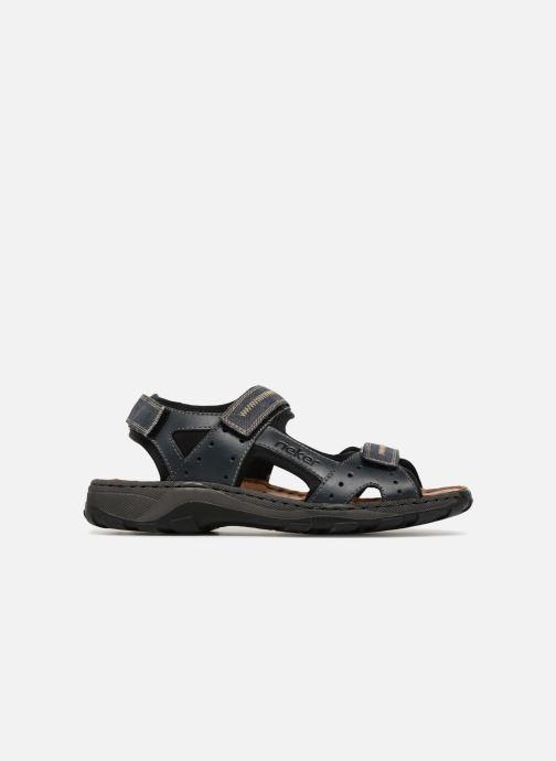 Sandales et nu-pieds Rieker Christian Bleu vue derrière