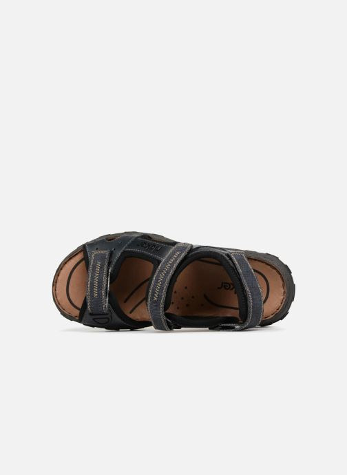 Sandales et nu-pieds Rieker Christian Bleu vue gauche