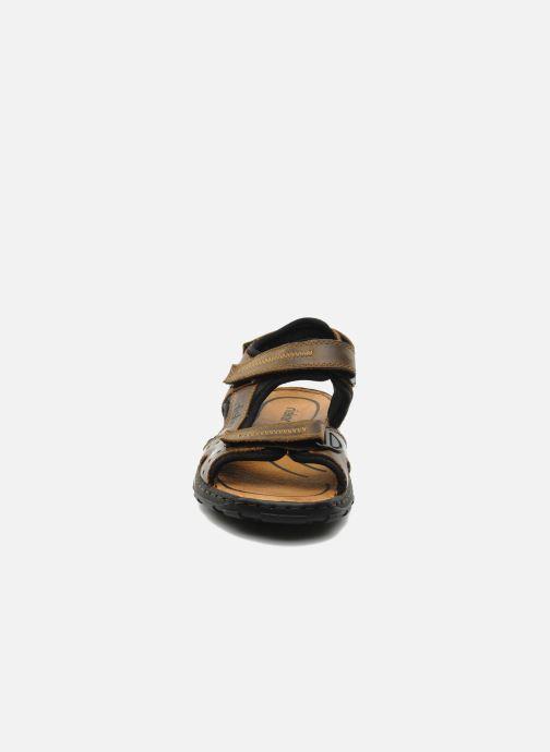 Sandales et nu-pieds Rieker Christian Marron vue portées chaussures